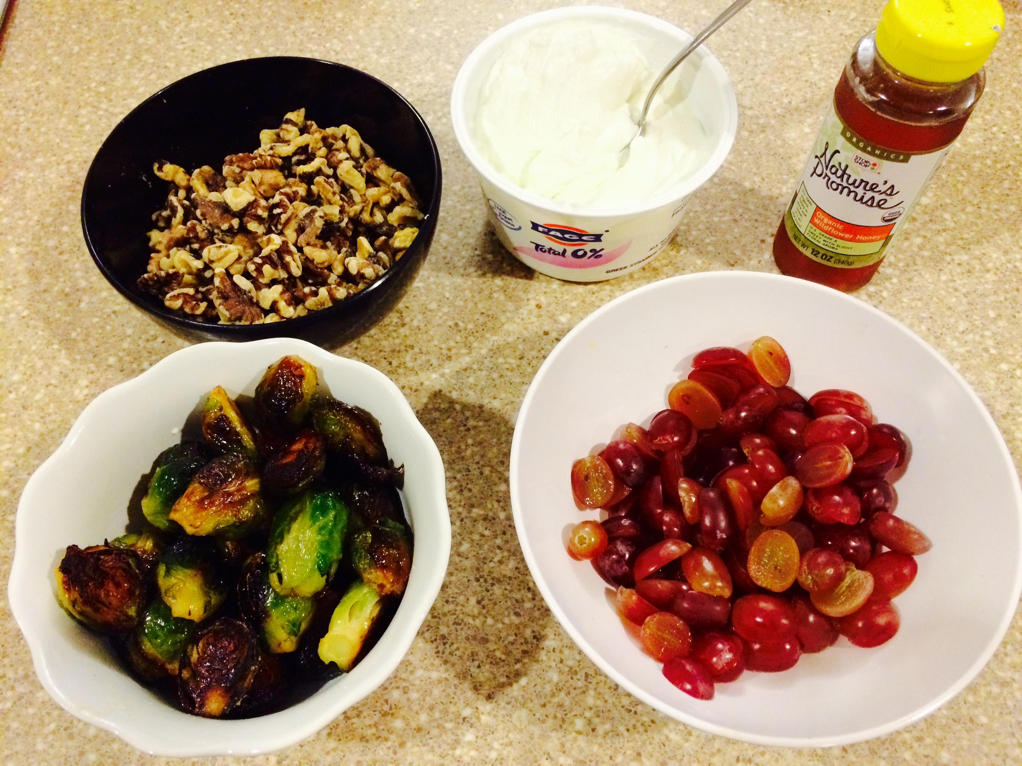 Roasted Brussels Sprouts And Grapes With Walnuts Recipe ...